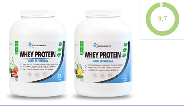Review | Whey Protein with Spirulina - Muscle Concepts